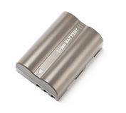 Grey lithium-ion battery top view Royalty Free Stock Photography