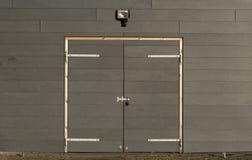 Grey locked gate Stock Photo