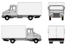 Grey lorry. Illustration of a small delivery truck Royalty Free Stock Image