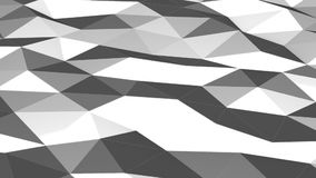 Grey low poly waving surface as lovely background motion design stock video footage