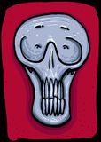 Grey male skull on a red background. Illustrator vector drawing. Vector file attached vector illustration