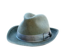 Grey man's hat. On a white background Royalty Free Stock Image