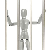 Grey mannequin in prison Stock Image