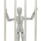 Grey mannequin in prison Stock Image