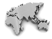 Grey map Royalty Free Stock Photography