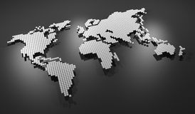 Grey map world Royalty Free Stock Images