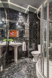 Grey marble bathroom with shower Royalty Free Stock Images