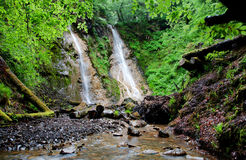 Grey Mares tail Waterfall. Near Llanwrst in the Snowdonia National park Royalty Free Stock Photo