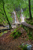 Grey Mares Tail Waterfall. Snowdonia National Park North Wales Stock Images