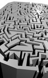 Grey maze Royalty Free Stock Photos