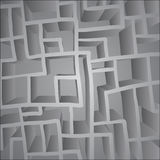Grey maze Royalty Free Stock Image