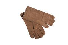 Grey men`s gloves Stock Photo