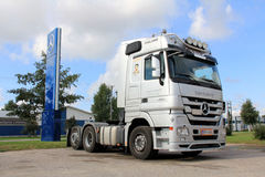 Grey Mercedes-Benz Actros V8 Truck Stock Image
