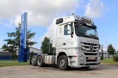 Grey Mercedes-Benz Actros V8 Truck Stock Image