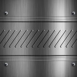 Grey metal background Royalty Free Stock Photography