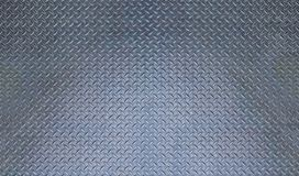 Grey Metal Diamond-plate Texture with Blue Tint Stock Image