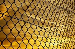 Grey Metal Fence Royalty Free Stock Photo
