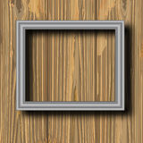 Grey metal frame Stock Photos