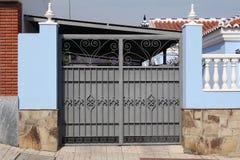 Grey metal gate Royalty Free Stock Photos