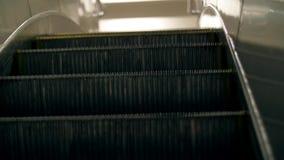 Ladder escalator rides up. Grey metal ladder escalator rides up stock video