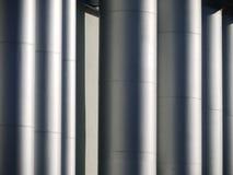 Grey metal pipes Royalty Free Stock Photos