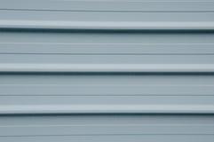 Grey metal planking wall Royalty Free Stock Photos