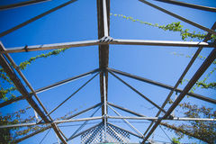 Grey Metal Roof Frame Stock Photography