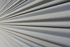 Grey metal stripe pattern. In perspective angle view Royalty Free Stock Photos