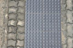 Grey Metal Tactile Paving fotos de archivo