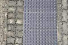 Grey Metal Tactile Paving Stock Photos