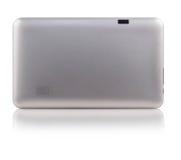 Grey Metallic Digital Tablet posteriore fotografie stock