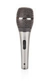 Grey metallic microphone for voice recording Royalty Free Stock Photos