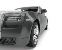 Grey metallic modern luxury business car - headlight closeup shot Stock Images