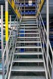 Grey metallic staircase on a stock bin Stock Photo