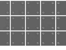 Grey metallic tablets Stock Images