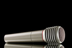 Grey  microphone Royalty Free Stock Photography