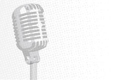 Grey Microphone Background Stock Photography