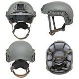 Grey military helmet Stock Image