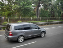 Grey minivan stock images