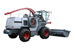 Grey modern combine. Separately on a white background Stock Photos