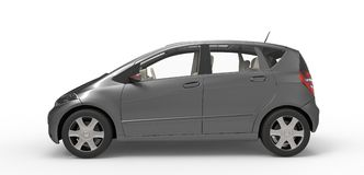Grey Modern Compact Car Royalty Free Stock Photography