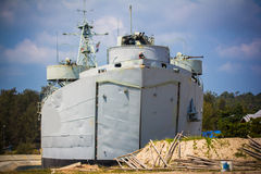 Grey modern warship on Koh Phangan Stock Photos