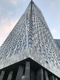 Grey moderno dell'alta costruzione di Mosca Immagine Stock
