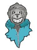 Grey Monkey em desenhos animados do revestimento ilustração stock