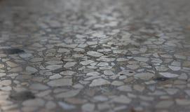 Grey Mosaic floor, grey background Stock Image