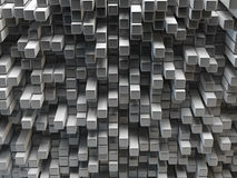 Grey mosaic surface with convex effect Royalty Free Stock Photos