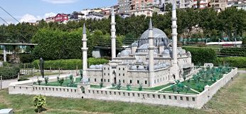 Grey mosque in Istanbul Stock Photo
