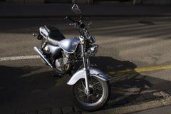 Grey Motorbike Fotografia Stock
