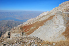 Free Grey Mountain Slopes In The Tien Shan In The Background Panorama Stock Images - 66609484