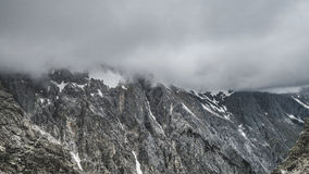Grey Mountain Under Grey Clouds during Daytime Royalty Free Stock Image